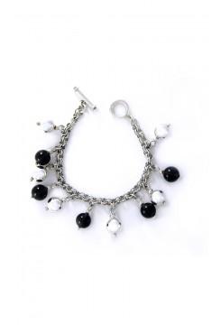 Silver and Smoke Quartz Baubels Bracelet