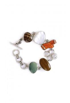 Mother of Pearl, Spondylus mixed Stone Bracelet