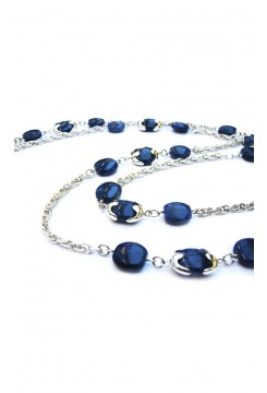 Sodalite Beaded Chain Necklace