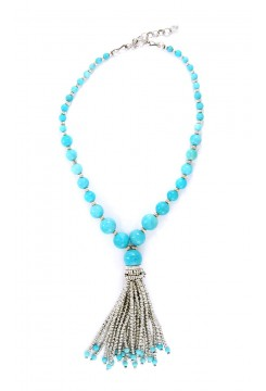 Andean Opal Tassel Necklace