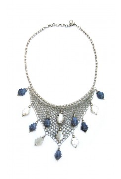 Silver Fish Net Necklace
