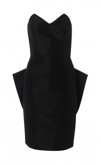 Black Tafetta Bustle Dress