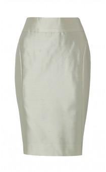 Silver Silk Dupion Skirt