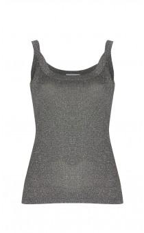 Silver Lurex Knit Vest Top
