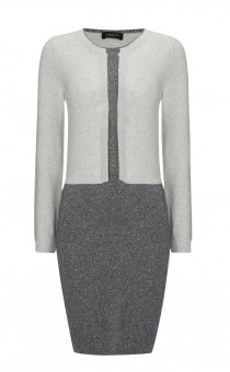Contrast Knitted Cardigan Dress